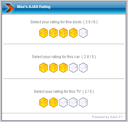 Ajax Rating System
